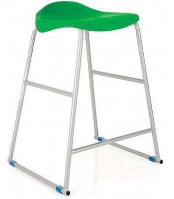 Titan High Stool Green Seat