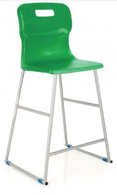 Titan High Stool Green Seat (2)
