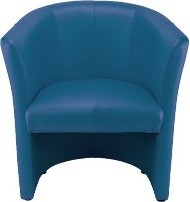 Blue Club Tub Chair In Faux Leather Choices