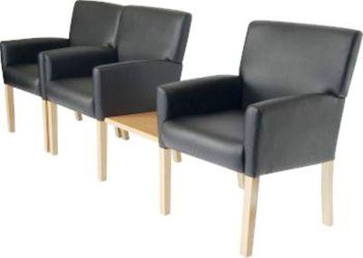 Weston Black Leather Seating Group Shot