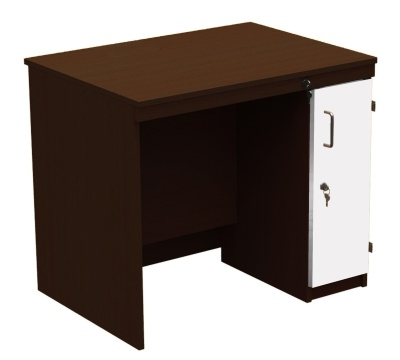 In Desk Walnut With White Door