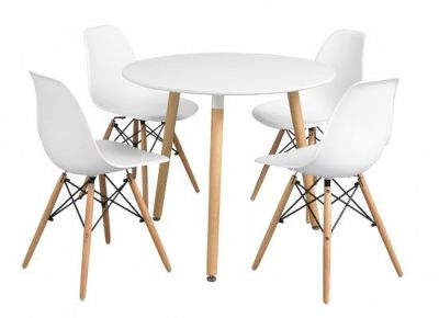 Efffel Table With DSW Chairs
