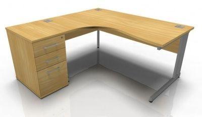 Tx Left Hand Corner Desk And Desk Height Pedestal