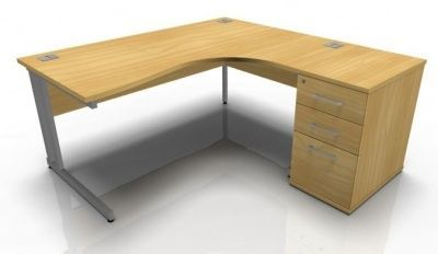 Tx Right Hand Corner Desk And Desk Height Pedestal