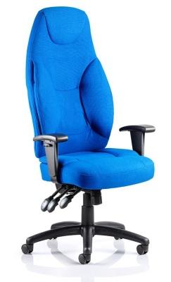 Galaxy High Back Ergonomic Chair Blue Fabric