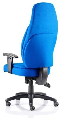 Galaxy High Back Ergonomic Chair Rear View Blue Fabric