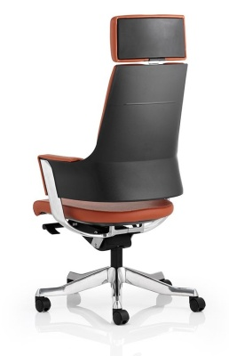 Starlight High Back Executive Chair With Headrest In Tan Leather