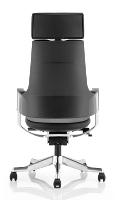 Starlight Black Leather Executive Designer Chair Rear View