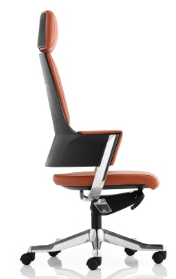 Starlight Tan Leather Executive Chair Side View