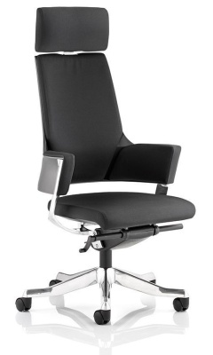 Starlight Designer Executive Chair In Black Fabric