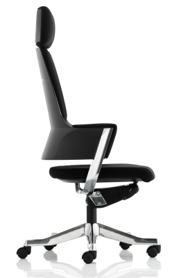 Starlight Dewsigner Executive Chair In Black Fabric Side View