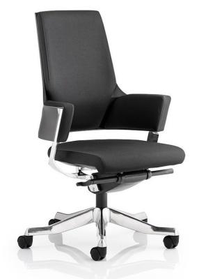 Satrlight Executive Chair Black Fabric Front Angle Shot