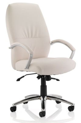 Oasis High Back White Leather Executive Chair