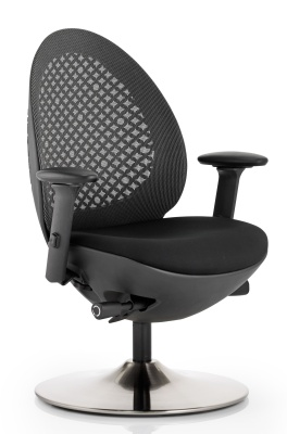 Ovum Designer Mesh Chair In A Black Mesh Back
