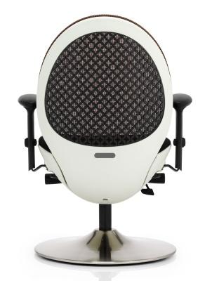 Ovum Designer Mesh Chair With A Citrcular Base Anmd White Frame