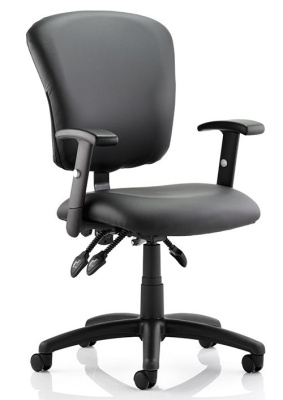 Tuxedo Black Leather Operators Chair
