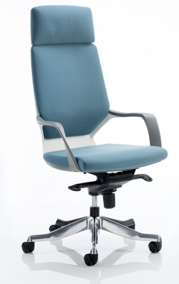 Carbon Contemporary Execitive Chair In Blue Fabric