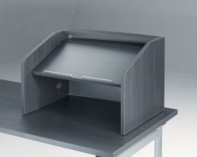 Value Desk Top Meeting Lecturn In Anthracite Colour Wood With Sloping Writing Desk