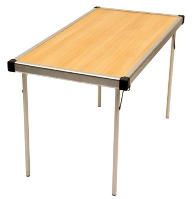 Fast Fold Rectangular Table Oak Top