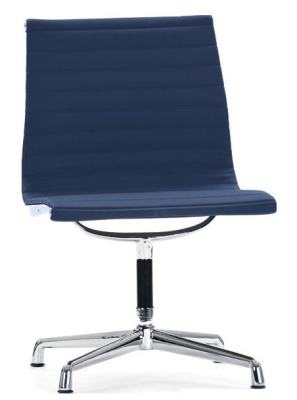 Aria Designer Conference Chair In Blue Leather