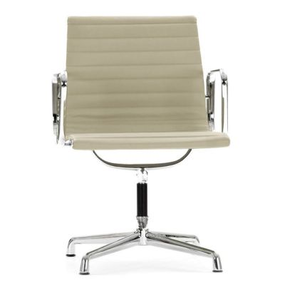 Aria Designer Conference Chair With Arms In Cream Leather