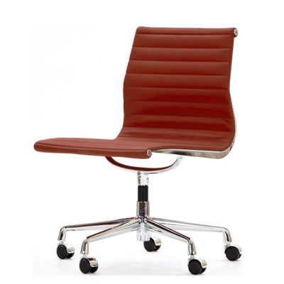 Aria Swivel Chair Red Leather
