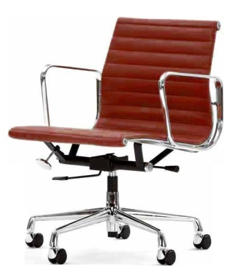 Aria Designer Swivel Chair Red Leather