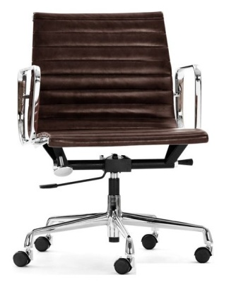 Aria Designer Swivel Chair Brown Leather