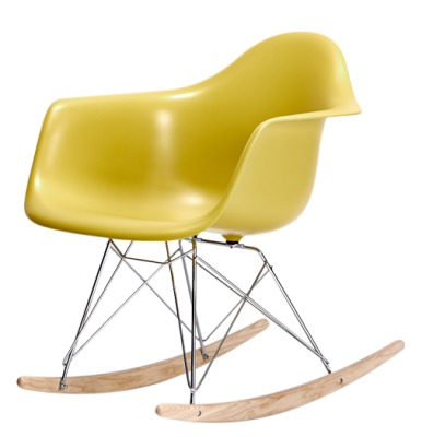 Eames RAR Rocking Chair Chartreuse Seat And Ash Base