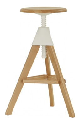 Titra Wooden High Stool