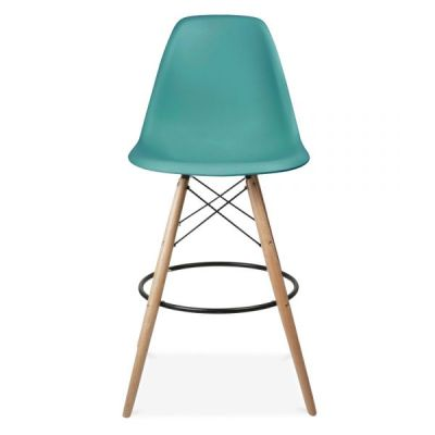 Eames DSW High Stool Teal Seat
