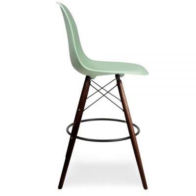 Eames DSW Peppermint Seat Walnut Legs Side View