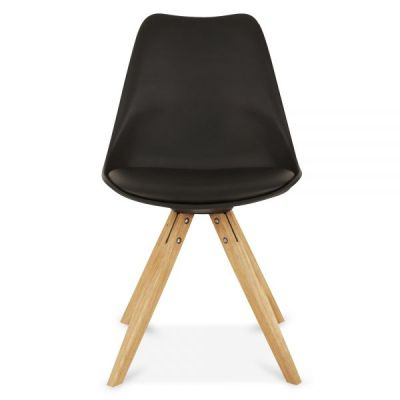 Pyramid Style Chair With Black Seat Front View