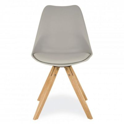 Pyramid Chair With A Grey Sear Front Angle