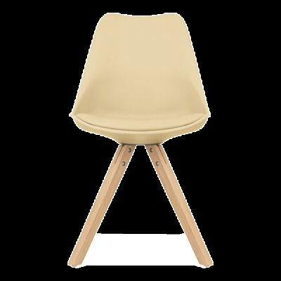 Pyramid Chair Peach Seat Front View
