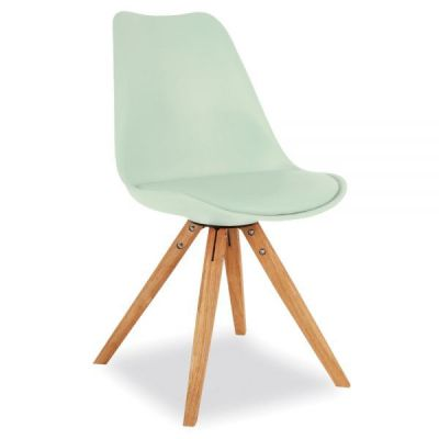 Pyramid Chair With A Peppermint Seat Frint Angle