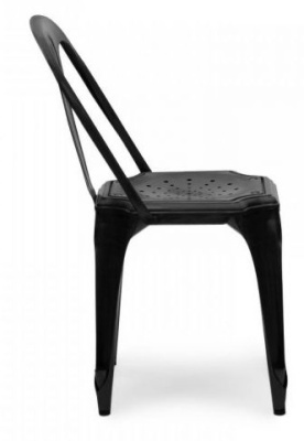 Les Meubles Vintage Chair In Black Side View