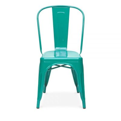 Tollix V4 Side Chairs In Teal Front Shot