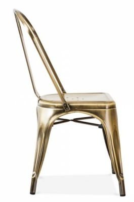 Tollix Side Chair Antique Copper Finish Side View