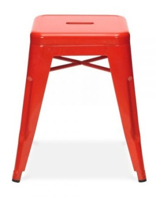 Tollix V2 Low Stool In Red Side View