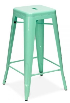 Xavier High Stool Peppermint Front Angle