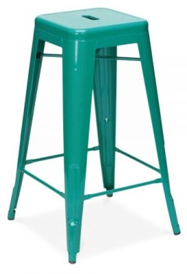 Xavier High Stool Teal Finish