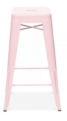 Xavier High Stool Pastel Pink Finish