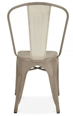 Xavier Pauchard Side Chair Distressed Finish Rear View