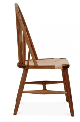 Peacock Chair In Walnut Side View