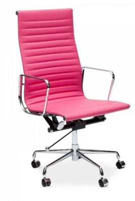 Aria Executive Designer Chair In Pink Front Angle