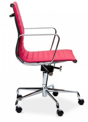 Eames Mid Back Designer Chair In Pink