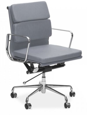 Eames Mid Back Grey Leather Executive Chair