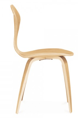 Cherner Oak Chair Side View