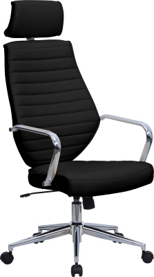 Domain Executive Leather Chair Black Leather